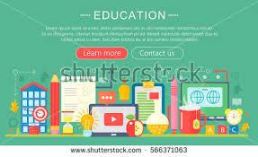 design online education set of flat design vector illustration concepts for e learning and
