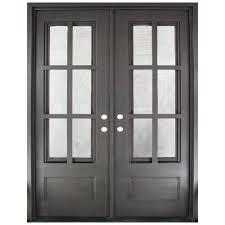 62 x 82 iron doors front doors the home depot