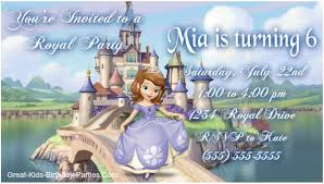 sofia the birthday ideas the invitations