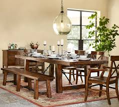 Pottery Barn Dining Room Furniture Benchwright Extending Dining Table Bench Set Pottery Barn