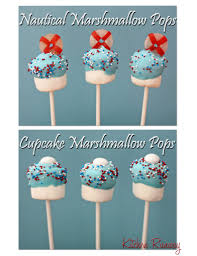 nautical themed marshmallow pops for baby shower kitchen runway