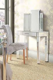 mirrored console vanity table zoe mirrored dressing table with single drawer my furniture