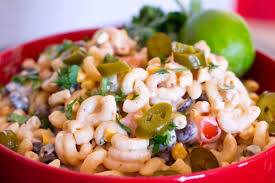 mexican macaroni salad with chipotle sauce dressing our holly days