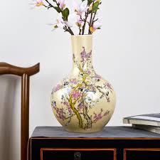 jingdezhen ceramic big vase new chinese style golden magpie plum