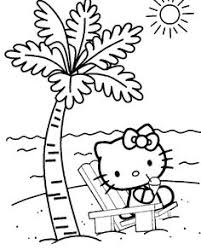 kitty barbecue kitty coloring pages
