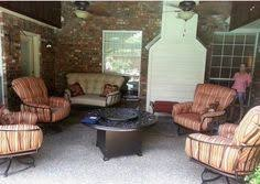 Yard Art Patio Fireplace Mallin Salisbury Swivel Club Chairs With Vesuvius Fire Pit By O W