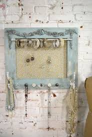 Shabby Chic Jewelry Display by Shabby Chic Earring Organizer Shabby Chic Burlap Earring Display