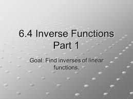 precalculus 1 7 inverse functions ppt video online download