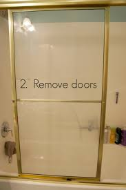 tub with glass shower door how to remove shower glass doors u2013