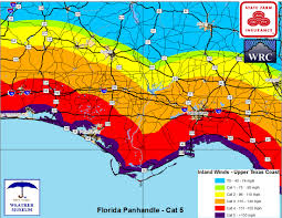 Map Florida Panhandle by Weather Research Center April 2016
