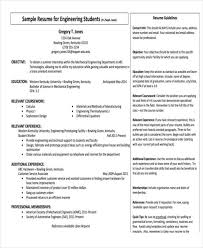 Resume Examples For Engineering Students by 37 Engineering Resume Examples Free U0026 Premium Templates