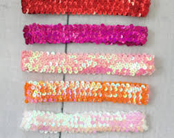 sequin headbands sequin headband etsy