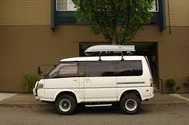 van mitsubishi delica old parked cars 1991 mitsubishi delica star wagon