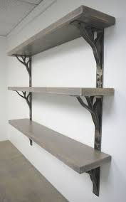 custom iron linear shelf brackets by ironcraft custommade