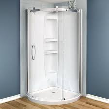 maax olympia 36 in x 36 in x 78 in shower stall in white 105972