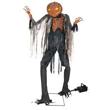 halloween animatronics sale 7 u0027 scorched scarecrow halloween animatronics with fog machine included