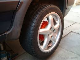 red painted rear brake drums on view behind the fox racing alloy wheelichelin pilot