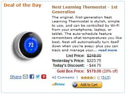 amazon black friday nest thermostat amazon gold box deal of the day nest learning thermostat 1st