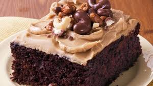 chocolate sheet cake with brown sugar frosting recipe