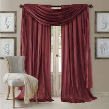 Deep Red Velvet Curtains Red Curtains U0026 Drapes Window Treatments The Home Depot