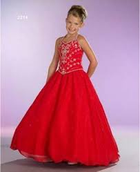 unique designer red ball gowns for kids weddings eve