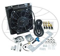 oil cooler with fan oil cooler fan kit 96 plate cooler w fan empi full flow