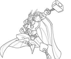 14 Kids Coloring Pages Thor Print Color Craft Thor Coloring Page