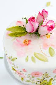 flower fondant cakes hand painted fondant cake