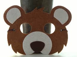 grizzly bear halloween costume kids brown bear mask bear costume animal mask for pretend