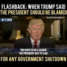 Shutdown Meme - in 2013 when obama was president trump occupy democrats