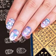 gold colored nail art vinyl guide set kawaii collections