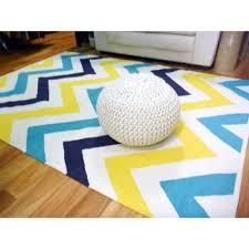 Yellow Chevron Outdoor Rug Aqua Navy Yellow Chevron Natural Cotton Floor Rugs Shop Online Or