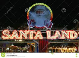 santa land editorial photo image of exterior letters 79227341