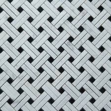cross basket mosaic black tile asian carrara marble polished