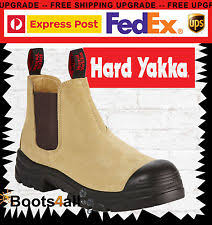 yakka s boots yakka grit work boots wheat elastic sided safety steel toe