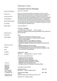 Customer Service Manager Resume Sample Customer Service Job Description Resume Resume Template And