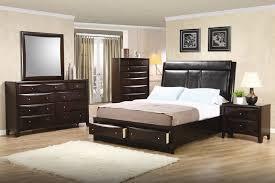 phoenix storage platform bed 6 piece bedroom set in rich deep