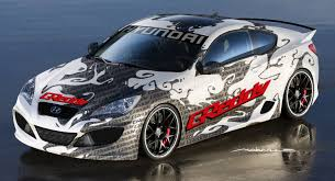 hyundai supercar greddy to debut performance parts for hyundai genesis coupe