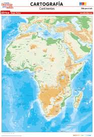 mapa de africa mapa de africa fisico