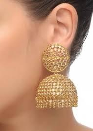big jhumka gold earrings pin by biradar shobana on polki n pachhi indian