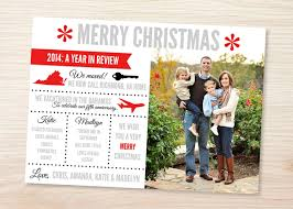 christmas card year in review template business template