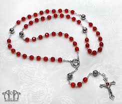 sacred heart rosary vire s blood sacred heart rosary necklace of