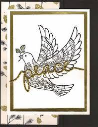 dove of peace in black white gold