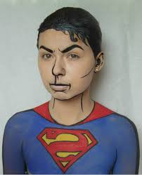 Mens Halloween Makeup Ideas Superman Makeup For Men Images Comic Book Makeup Pinterest