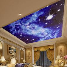 3d Wallpaper For Bedroom by 3d Bright Stars Wallpaper Mural For Ceiling Wall Bedroom Living