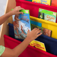 Fabric Sling Bookshelf Sling Bookshelf Primary U0026 Natural