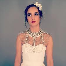 wedding dress necklace glam rhinestone cape bridal statement necklace great