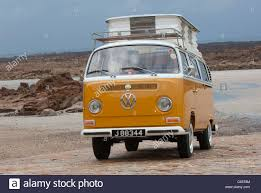 orange volkswagen van vw volkswagen bay window devon camper van classic air cooled rear