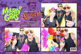 mardi gras photo booth venice mardi gras after party at danny s venice paparazzi