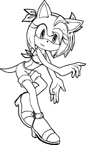 amy rose coloring pages eson me